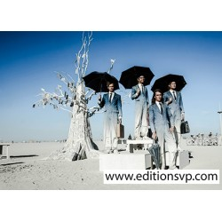 postcard men suit ties desert photography eric bouvet