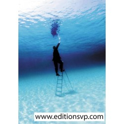 Philippe Ramette black suit underwater ladder