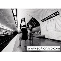 nun stiletto heel fishnet stockings paris metro